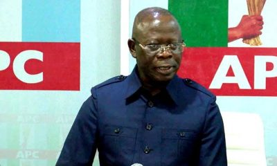 Oshiomhole resumes as APC chairman, says he's not perfect but sincere