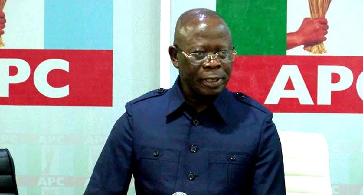 Breaking: Protesters clash at APC secretariat in Abuja over 'Oshiomhole'