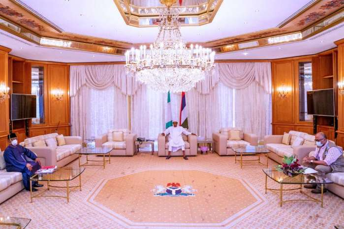 COVID-19: Buhari, health minister, NCDC boss meet in Aso Villa (PHOTOS)