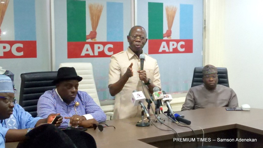 Oshiomhole to chair fresh APC's NWC meeting on Tuesday