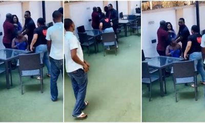 Wife catches husband, mistress at a hotel in Benin (Video)
