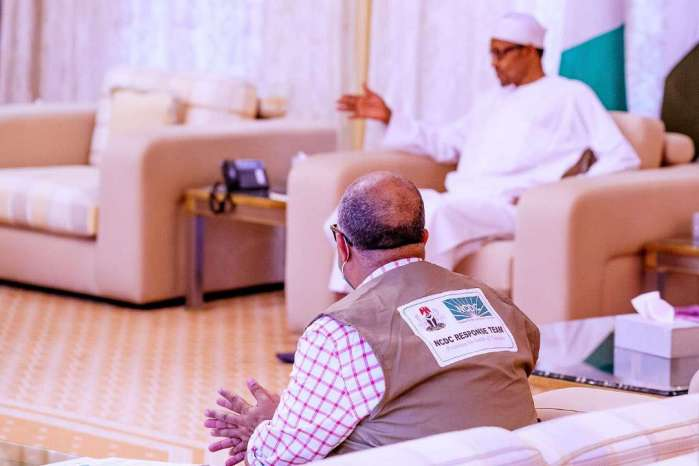 President Muhammadu Buhari and the Minister of Health, Prof Osagie Ehanire, have just rounded off a meeting at the State House, Abuja. 2