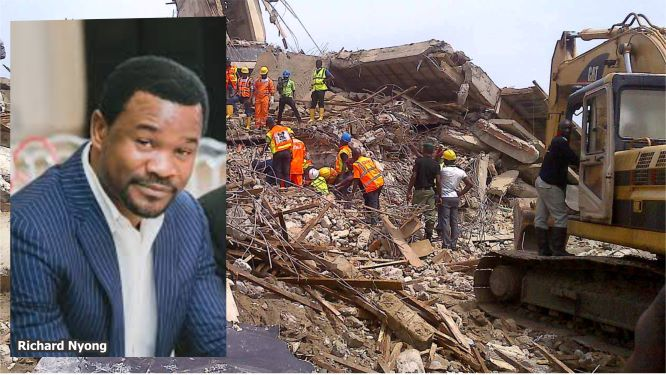 Building collapse: How Lekki Gardens MD, Richard Nyong's ploy to kill case failed, risks jail as judge fumes