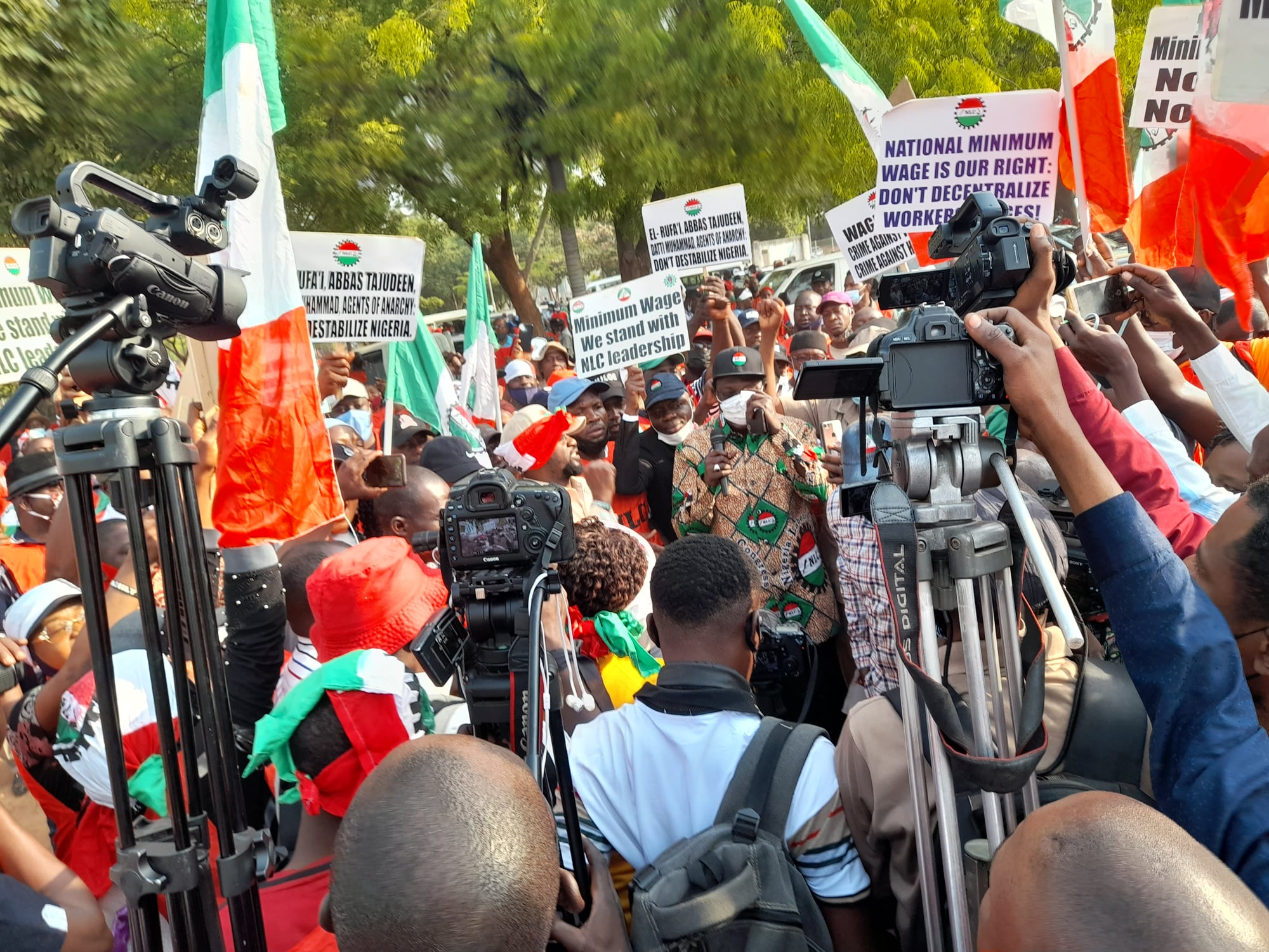 Minimum Wage: Labour takes protest to National Assembly