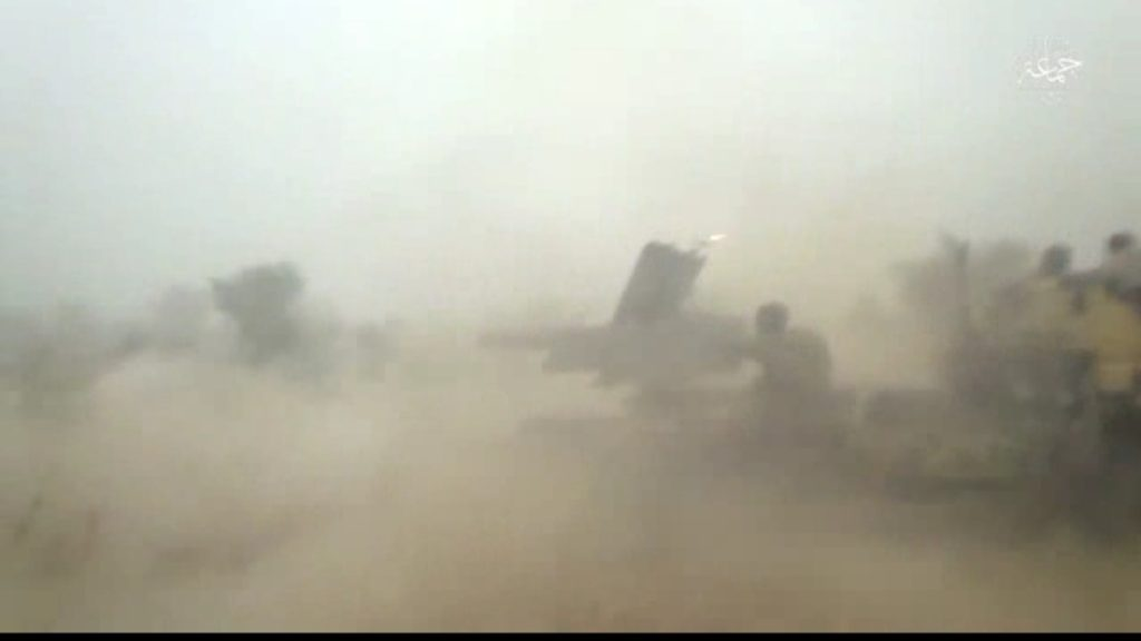 What appears to be a 105mm artillery system.