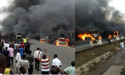 14 passengers burnt to death as bus explodes on Lagos-Ibadan expressway