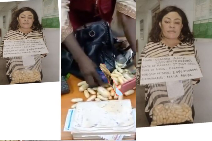 NDLEA nabs woman who tucked 100 wraps of cocaine in her private part